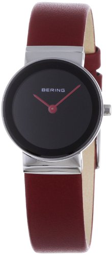 BERING Time 10126-604 Womens Classic Collection Watch with Calfskin Band and scratch resistant sapphire crystal. Designed in Denmark.