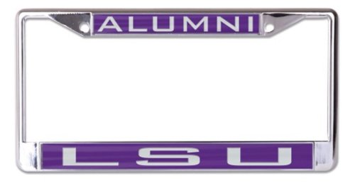 WinCraft NCAA Louisiana State University LSU Tigers ALUMNI 6x12 Inlaid Acrylic/Metal License Plate Frame (Lsu Acrylic)