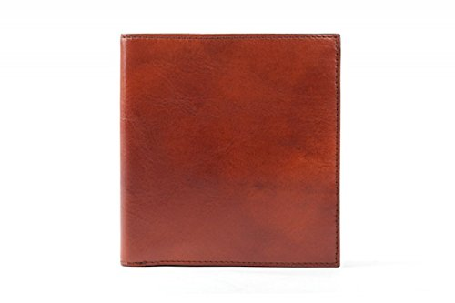 Bosca Mens Old Leather 12 Pocket Credit Bifold Wallet (Cognac)