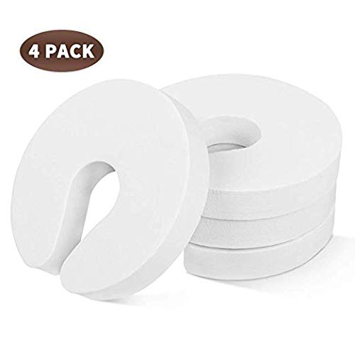 Finger Pinch Guard - 4pk. Baby Proofing Doors Made Easy with Soft Yet Durable Foam Door Stopper. Prevents Finger Pinch Injuries, Slamming Doors, and Child or Pet from Getting Locked in Room