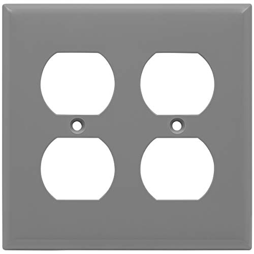 ENERLITES Duplex Receptacle Outlet Wall Plate, Size 2-Gang 4.50