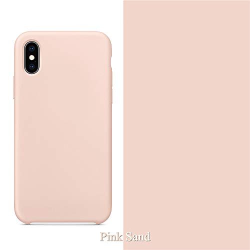 VANYUST Liqid Silicone Gel Rubber Shockproof Case Soft Microfiber Cloth Lining Cushion Compatible with iPhone Xr (Pink - Gel Silicone Rubber