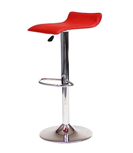 Vinyl Bar Stool W Adjustable Height Air Lift Swivel 2002 Red