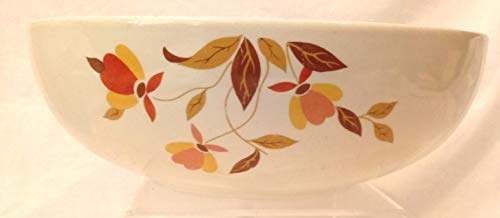 Vintage Hall's Superior Quality Kitchenware Autumn Leaf Large Mixing -