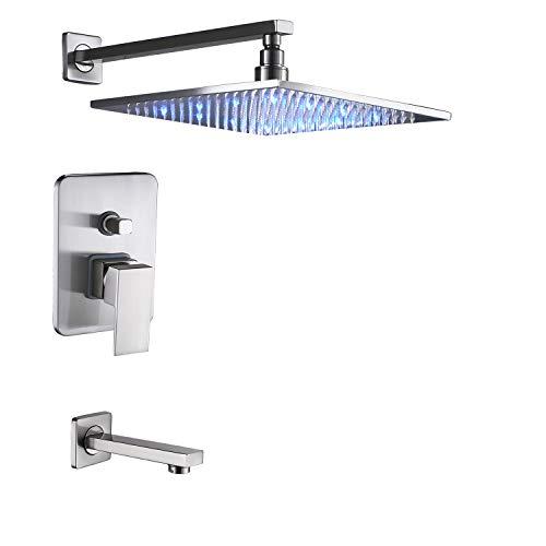 Rozin Bathroom 2-way Mixing Shower LED Light Rainfall 12