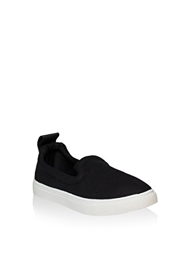 Rocco Barocco Women's Loafer Flats Black Black Black