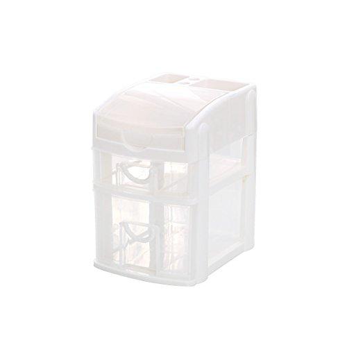 Home Office Organizer Storage Box for Women/Men with 2-Tier Office Organizer Drawers, Desktop Office Organizer Shelf Different Containers for Women Girls or Men Desk Organization White by Baffect