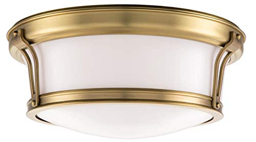Hudson Valley Lighting 6513-AGB Two Light Flush Mount from The Newport Collection, 13