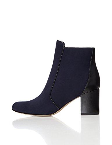 FIND Women's Heeled Ankle Boots Blue (Navy/Black) ihfBTgf