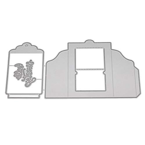 puhoon Cutting Dies, Bookmark Metal DIY Scrapbooking Stencil, Album Card, Embossing Craft Decor for Home