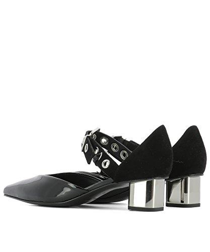 À Chaussures Cuir PORTRAIT Femme Noir SASAVERNICHEVVELNOIR Talons SELF xXwZHqYB