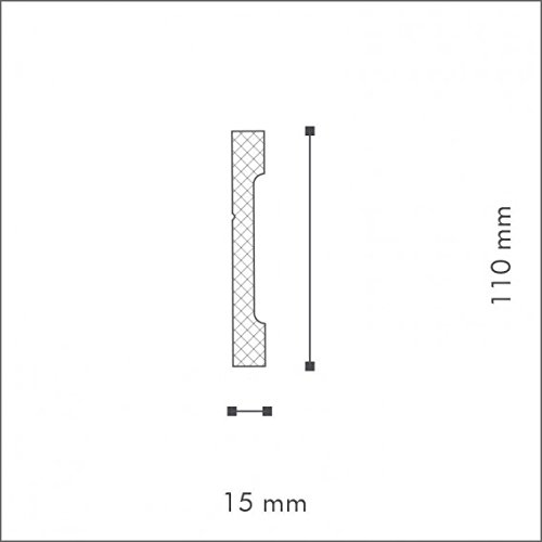 Plinthe FD2 Polystyr/ène HD NMC Wallstyl