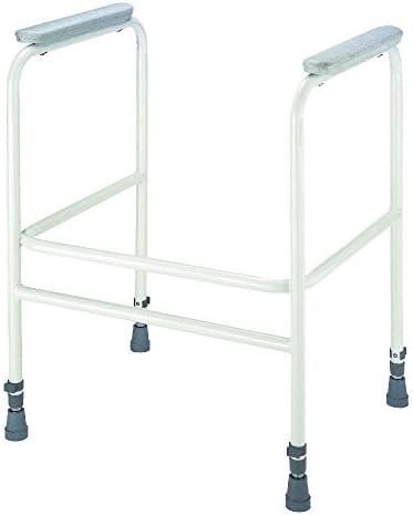 1x Careline Toilettenstützgestell AquaSafe, Toilettenrahmen, Toilettenhilfe