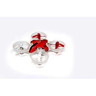 Blade Inductrix Switch RC Micro Drone RTF 3-in-1 (Switchable Mini Drone, Hovercraft, Watercraft) with LED Lights, 2.4GHz Transmitter, Battery & USB Charger: BLH9800 (Red)