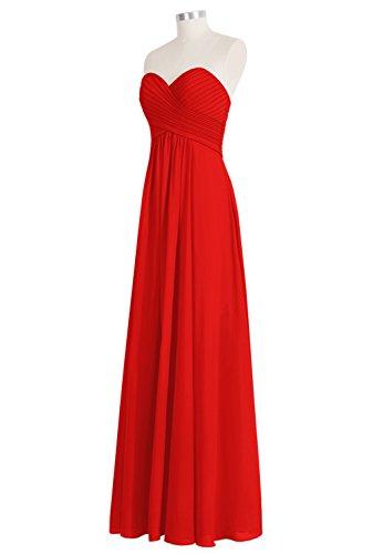 Festkleider LuckyShe Damen Chiffon Lang Abendkleider Lilac A linie 1611 BggUwxq