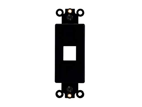 (Monoprice Keystone 1 Hole Decor Insert - Black | for Ethernet Networks Or Home Theater Interconnects Keystones, Wallpalte,)