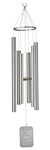 Grace Note Chimes 6M 42-Inch Stardust Wind Chimes, Medium, Silver For Sale