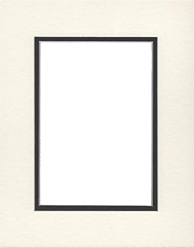 24x36 Double Acid Free White Core Picture Mats Cut for 20x30 Pictures in Cream and Black