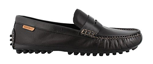 Cole Haan Men's Coburn Penny Driver II Loafer, Black Textured Leather, 11.5 Medium US ()