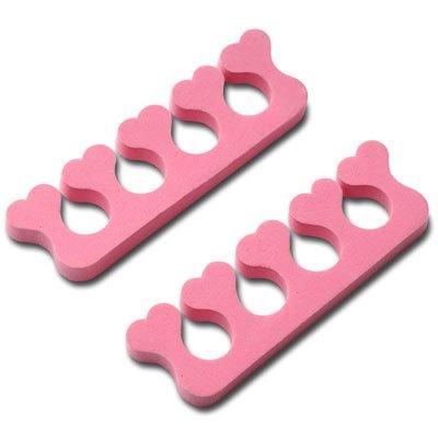 New Nail Art Zehenspreizer / Fingerspreizer Herzform Nagel Design Zubehör Hilfsmittel