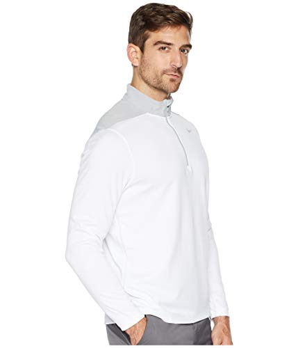 NIKE Men's Dry Top Half Zip core Golf Top (White/Wolf Grey, XXX-Large) by NIKE (Image #4)