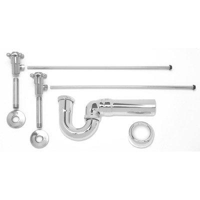 Lavatory Sweat Supply Kits with New England/ Massachusetts P-Trap MT3046 Finish: Antique Brass - Lavatory Sweat Supply Kit