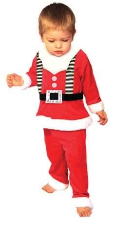 cf72ad3ad46a Boys Father Santa Costume Christmas Festive Party Fancy Outfit & Hat 2-3  Years Kids