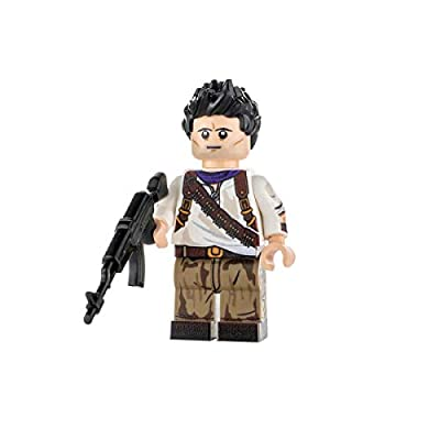 Custom Design Minifigure - Nathan Drake - Collectable Toy Figurine for Kids, Men and Women | Gamers: Toys & Games