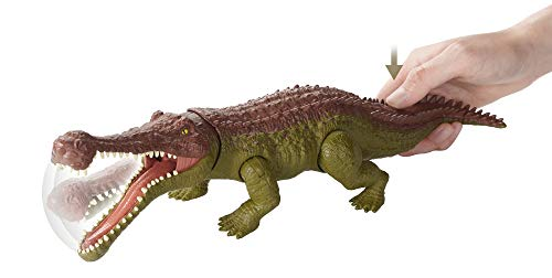 Jurassic World Massive Biters Larger-Sized Dinosaur Action Figure, Sarcosuchus