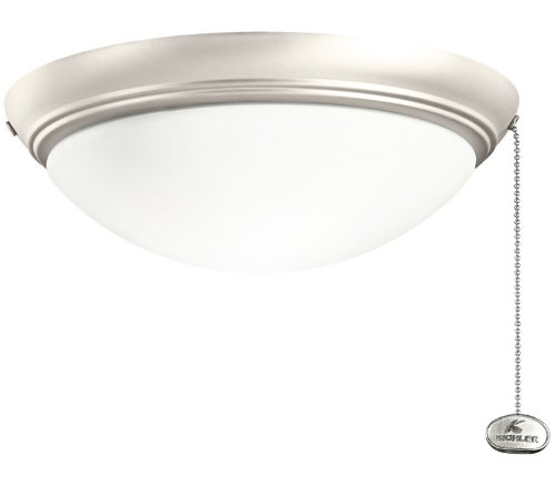 Kichler 380020NI Accessory Low Profile Fixture Large, Brushed (Large Chandelier Light Fixture)
