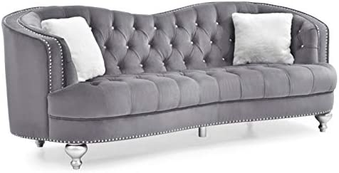 Amazon.com: Glory Furniture Jewel G755-S Sofa, Gray. Living ...