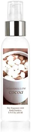 Marshmallow Cocoa Perfume Fine Fragrance Mist by Body Exotics 3.5 Fl Oz 103 Ml