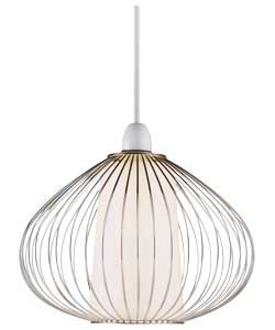 Chrome wire cage light shade 9259845 amazon kitchen home chrome wire cage light shade 9259845 keyboard keysfo Image collections
