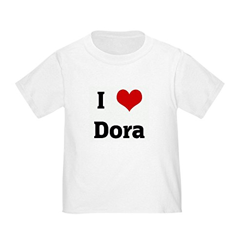 CafePress - I Love Dora - Cute Toddler T-Shirt, 100% (Cute Dora)