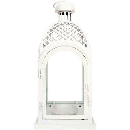 Better Homes and Gardens Metal Lantern, White (Garden Lanterns For Candles)