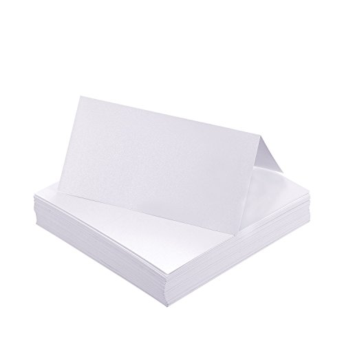 Name Place (Shappy Wedding Party Name Place Cards Table Cards, Pearl White (60 Pieces))