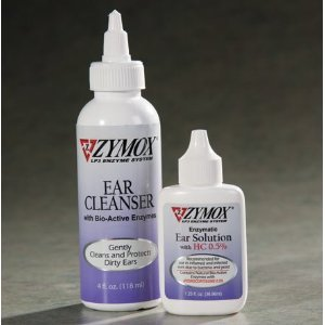 Zymox Solution For Ear Infections 1 25 Oz  And Cleaner Set