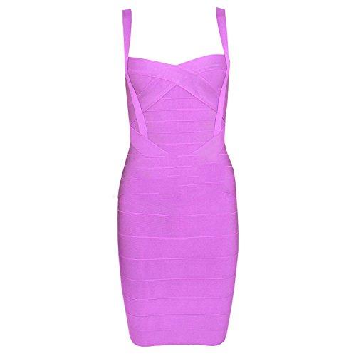 Ivan Johns Dresses Spaghetti Strap Sweetheart Neckline Sexy Women Bodycon Bandage Dresses Wholesale Cheap XL Lavender M ()
