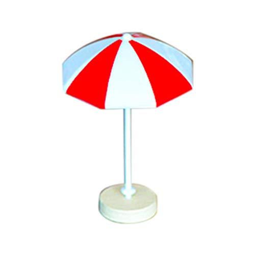 Sun Umbrella DIY Craft, Sttech1 Beach Style Miniature Ornament for DIY Fairy Garden Decoration Home Garden Decoration Accessories (M, Red) ()