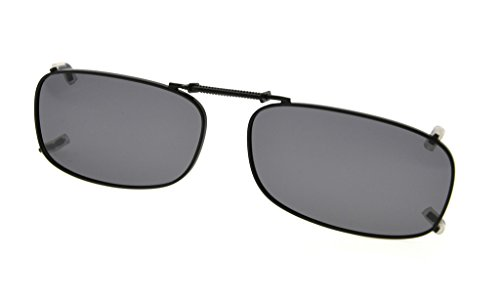 Eyekepper Metal Frame Rim Polarized Lens Clip On Sunglasses 2x1 1/8