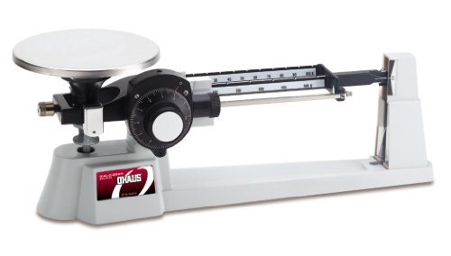 Ohaus Dial-O-Gram 1650-W0 Triple Beam Mechanical Balance with Stainless Steel Plate, 2610g Capacity, 0.1g Readability, 225g ()