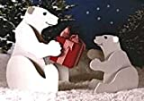 36 Inch and 24 Inch Tall Playful Polar Bears - A Woodworking Full Size Pattern and Instructions Pkg to Build Your Own Yard Art Project