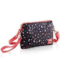 Sakura Messenger Bag, 23 cm, 2 liters, Black (Negro)
