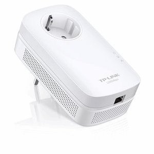 TP-LINK TL-PA8010P KIT AV1200 Gigabit with Power Outlet Pass-through Powerline Adapter, Up to 1200Mbps(Renewed).