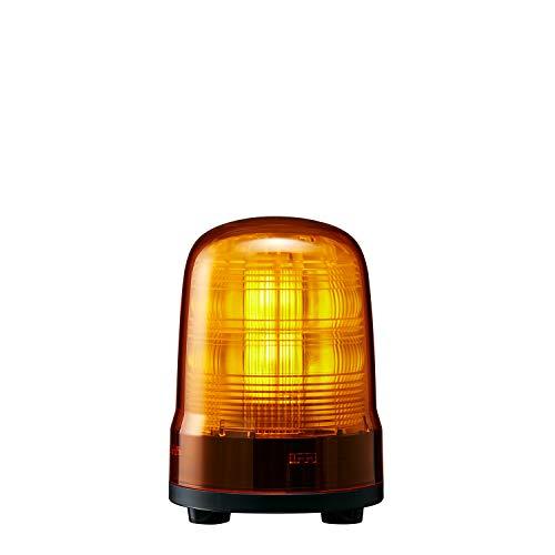 パトライト 回転灯 SF10-M2JN-Y Φ100 AC100~240V 発光パターン(22種) 黄色 3点ボルト足取付