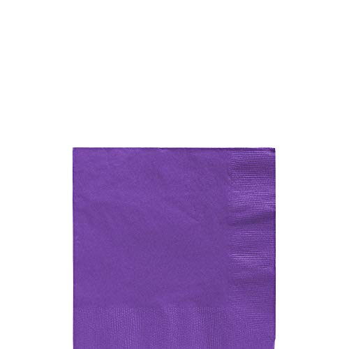 (New Purple Beverage Paper Napkins Big Party Pack, 125 Ct.)