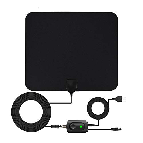 Digital TV Antenna for Indoor - HDTV Antenna with Amplifier Signal Booster for 4K HD Local Channels with Coaxial Cable Ultra High Definition TVs,Amplified 120 Mile Range Ultra 4K TV Antennas (Indoor Tv Antenna Amplifier)