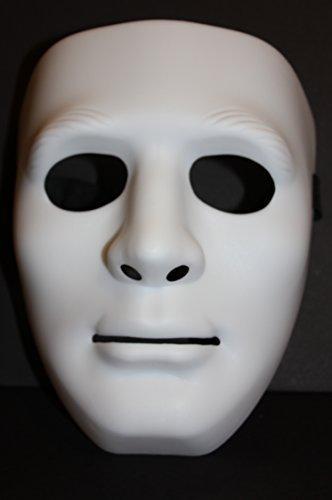 Full Face Plastic Plain Mask Costume Party Dance Crew For Hip Hop -