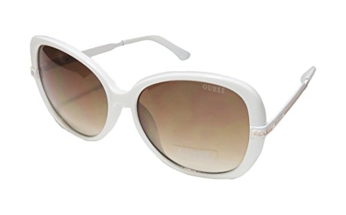 Guess 253 Womens/Ladies Butterfly Full-rim Gradient Lenses Sunglasses/Shades (58-16-135, White / - Guess Shades