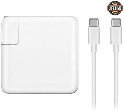 Mac Book Pro Charger, 87W USB-C To USB-C Ac Power Adapter Charger Replacement For MacBook Pro 13 Inch 15 Inch, MacBook Air 2018, With Type-C Charge ...